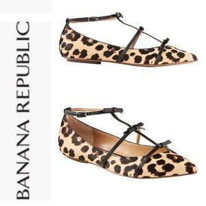 Banana Republic Leopard Print Bow Flats
